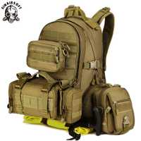 SINAIRSOFT militar Paquete de asalto táctico ejército Molle a prueba de agua al aire libre senderismo Camping caza combinación mochila