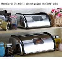 De acero inoxidable pan caja de almacenamiento multi-propósito de la cocina caja de almacenamiento Casa Gran restaurante buffet con tapa caja de almacenamiento