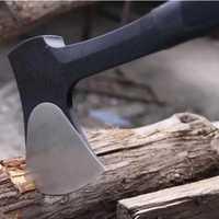 Herramienta de viaje de diseño antideslizante de alta carbono acero para trabajar la madera hacha supervivencia exterior