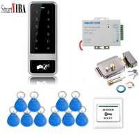 SmartYIBA Touch clave controlador de acceso a dispositivo de 125 KHz tarjeta de proximidad Panel Digital, lector de tarjeta de seguridad eléctrica sistema de bloqueo de la puerta