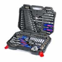 WORKPRO 123 PC coche conjunto de herramientas de reparación mecánico Kits de herramienta destornillador de trinquete llaves enchufes