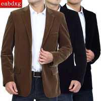 M-4XL otoño primavera chaqueta de los hombres casual elegante chaqueta hombres de algodón de moda chaqueta de cuero para hombre chaqueta de abrigo de pana chaqueta