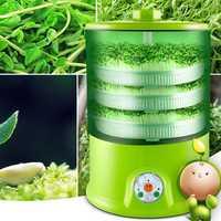 Bean sprout máquina a casa crecer automático de 3 capas de gran capacidad inteligente multi-funcional de la casa inteligente bean sprout máquina de bandeja de