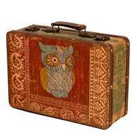 Europa Creativa de dos búho Caja de almacenaje Rectangular de madera Retro tesoro antiguo cajas de embalaje caja de adornos, regalos