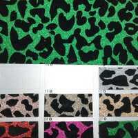 91x134 cm de cuero sintético tela de vinilo de cuero con flocado leopardo para arcos bricolaje accesorios P2197