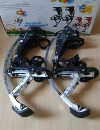 Skyrunner por peso de la gente 44lbs ~ 88lbs/20kg ~ 40kg negro zancos para saltar/skyrunner/saltar zapatos/zapatos voladores