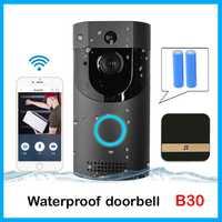 Anytek B30 WIFI sonnette B30 IP65 étanche Smart vidéo porte carillon 720 P interphone sans fil pour alarme IR vision nocturne caméra IP