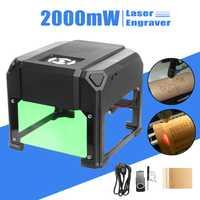 2000 mW/3000 mW USB Machine de gravure Laser de bureau logo bricolage marque imprimante Cutter CNC Laser sculpture Machine pour système WIN/Mac OS