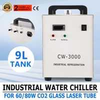 CW-3000 V 60Hz 220 termolisis enfriador de agua Industrial para máquinas de grabado CNC/grabador láser 60 W/80 W