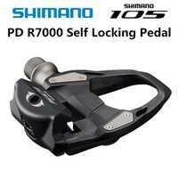 2018 nuevo Shimano 105 PD R7000 de carbono bicicleta de carretera de auto-bloqueo SPD pedales bicicleta Pedal con SH11 tacos
