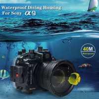 Envío Gratis DHL Seafrogs 40 m/130ft Cámara bajo el agua vivienda caso para Sony A9 cámara DSLR Camera Bags