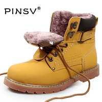 Talla grande 35-46 de los hombres de invierno botas de cuero genuino de los hombres de invierno de los hombres zapatos militar botas de piel para hombres zapatos Hombre