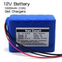 Varicore alta capacidad 12v10ah 18650 batería de litio protección bordo 12,6 millones capacidad mA
