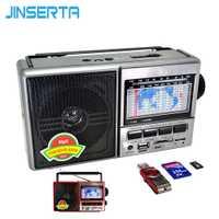 JINSERTA FM/AM/SW banda mundial receptor de Radio MP3 jugador con la banda pantalla soporte de disco U/tarjeta SD/TF tarjeta de juego