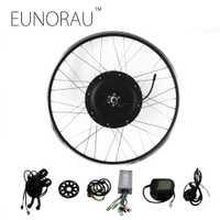 EUNORAU Kit de conversión de bicicleta eléctrica 48V1000W motor de eje trasero E Kit de conversión de bicicleta