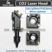 CO2 cabeza láser para 20 MM lente láser de 50,8 MM y espejo montaje para 25 MM espejo láser de piezas de la máquina