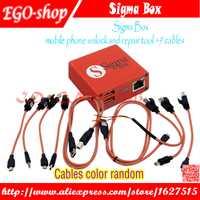 Gsmjustoncct Sigma caja de desbloqueo del teléfono móvil y la herramienta de reparación para Nokia y ZTE y Motorola para MTK y Huawei (9 cables) (versión básica)