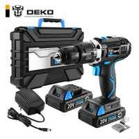 DEKO GCD20DU3 20 voltios Max DC batería de iones de litio de 13mm 2-velocidad eléctrico Taladro Inalámbrico Mini destornillador de impacto controlador de potencia