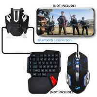 BattleDock teclado y ratón convertidor USB Gamepad convertidor controlador de juegos para PUBG juegos portátil teléfono titular