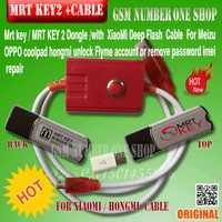 Mrt clé 2 mrt dongle 2 clé/mrt outil 2 + CÂBLE FORMeizu/OPPO coolpad hongmi déverrouiller/ flyme compte ou supprimer mot de passe imei de réparation