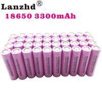18650 baterías recargables para Samsung 18650 batería 3300 mAh INR18650 30A de litio de iones de litio de 3,7 V 18650VTC7 18650 (40 piezas-400 piezas)