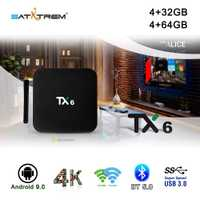 Tanix TX6 caja de TV inteligente Android 9,0 4 K IPTV 4 GB DDR3 32 GB EMMC BT 5,0 soporte Dual wifi 2,4G/5 GHz Youtube H.265 Set Top Box
