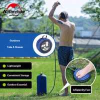 Inflable al aire libre ducha presión de agua portátil campamento ducha
