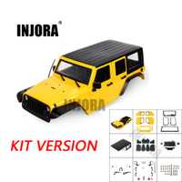 INJORA non assemblé 12.3 pouces 313mm empattement carrosserie pour 1/10 RC chenille axiale SCX10 & SCX10 II 90046 90047 Jeep Wrangler