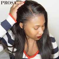 Pre arrancado pelucas de cabello humano de encaje completo para las mujeres negro 250 de densidad sin costuras pelucas llenas del cordón con el pelo del bebé recto peluca Prosa Remy