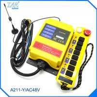 Radio Control Remoto A211-Y/AC48V Industrial Control Remoto interruptor de botón receptor AC48V