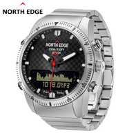 Montres de plongée montre digitale pour homme NORD BORD Sport montres militaires Étanche 100 M Boussole relogio masculino Smart led Hommes Horloge