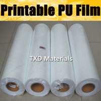 Vinilo de transferencia de calor imprimible de alta calidad, película de transferencia de PU imprimible digital con envío gratis con tamaño: 50 CM X 25 M/Roll