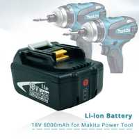 Reemplazo Makita 18 v 6.0Ah batería recargable w/luz LED para herramienta eléctrica Makita impacto LXT400 BL1850 BL1845 TD251DZ