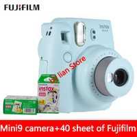 Nuevo 5 colores Fujifilm Instax Mini 9 cámara fotográfica instantánea + 40 hojas Fuji Instax Mini 8 película blanca + lente de primer plano