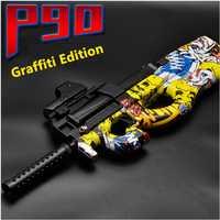 Électrique P90 Graffiti édition jouet pistolet en direct CS assaut Snipe Simulation arme extérieure eau douce balle pistolet jouets pour garçons enfants