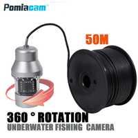 F08S 50 M Cámara subacuática hielo pesca visión nocturna visual inteligente pesca pez detector HD video para mar río lago