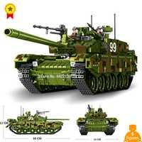 Verde 99 tanque de la selva los tiranos aplastar todos los obstáculos bloques de construcción juguete de armas Modelo compatible legoinglys militar ww2