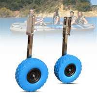 Nuevo barco de pesca de acero inoxidable rueda de lanzamiento para bote inflable bote carro Kayak Accesorios