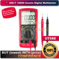 UNI-T UT58E 19999 cuenta LCD multímetro Digital AC/DC voltímetro Amp Ohm capacitancia Tester medidor de LCR