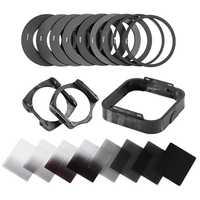 Zomei Cámara Filtro gradiente densidad neutra Gradual ND cuadrado resina filtros adaptador anillos soporte Cokin P Series sistema para DSLR