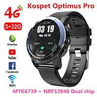 KOSPET Optimus Pro 3 GB 32 GB 800 mAh batterie double systèmes 4G montre intelligente téléphone étanche 8.0MP 1.39