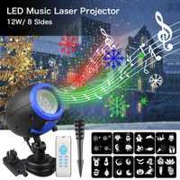 LED música SpeakerLaser luz de la barra del Partido de la etapa luz láser proyector impermeable al aire libre IP65 Navidad jardín lámpara de la decoración