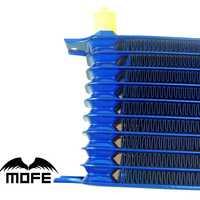AN10 aluminio Motores transmisson 9 fila del enfriador de aceite con especificaciones: H14 * w30 * T5