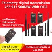 Kit de telemetría de Radio 3DR Módulo de transmisión de datos 500MW con OTG 433 MHZ/915 MHZ soporte MWC/APM /CONTROLADOR DE VUELO PX4/Pixhawk