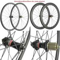 700C freno carretera 6 perno Hubs 30mm 40mm 45mm 55mm carbono remachador bicicleta disco Wheelset Cyclocross ruedas