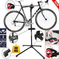 Soporte de reparación de bicicleta ajustable de 2 colores de aleación de acero de 190 cm 104 + herramienta de reparación de bicicleta de montaña de PP