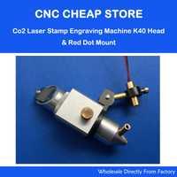 DIY de corte de grabado K40 Co2 cabeza láser + ajustar enfoque Focal Módulo de diodos de posición de punto rojo 5 V del Dia 22mm