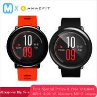 Versión en inglés Huami Amazfit ritmo inteligente reloj regalo GPS correr al aire libre Smartwatch dispositivos 1,2 GHz 512 MB/4 GB para Xiaomi