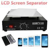 Marca 550 W LCD separador de pantalla 110 V 220 V eliminación de cristales de automático de la máquina de calor placa lisa teléfono reparación de la máquina nos enchufe de la UE