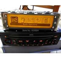 Monitor de coche compatible con monitor USB de 2 zonas air Bluetooth 12 pines para Peugeot 307 407 408 para citroen c4 C5 amarillo pantalla